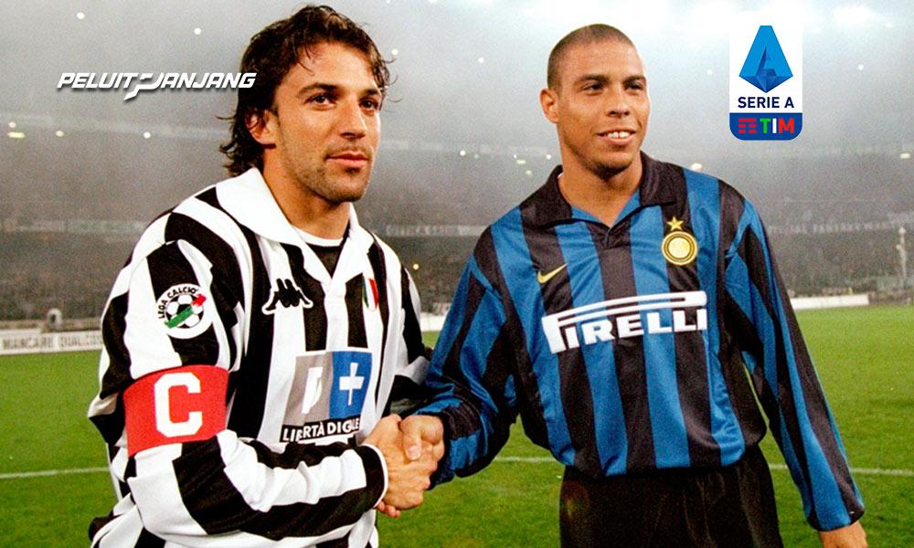 Alessandro Del Piero (Juventus) dengan Ronaldo Nazario (Inter Milan) dalam Derby D'Italia (Kredit: Getty Images)