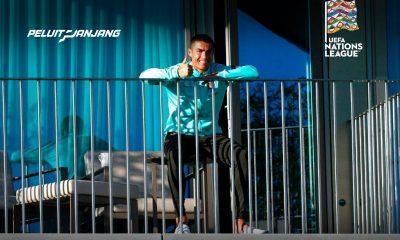 C. Ronaldo positif covid 19 menyaksikan rekan tim nasional