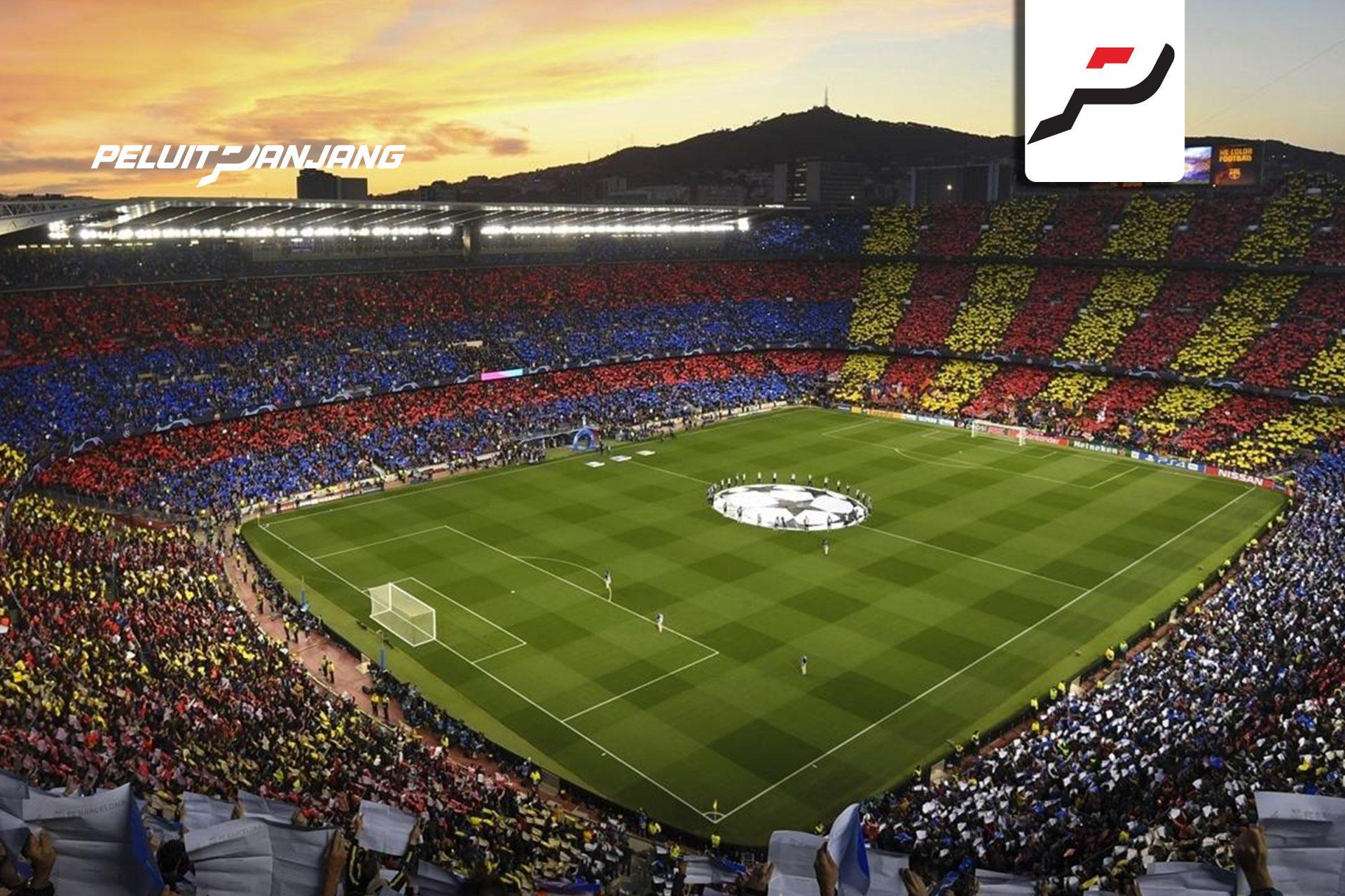 Camp Nou penuh dengan fans