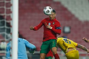 Cristiano Ronaldo saat melawan Andorra