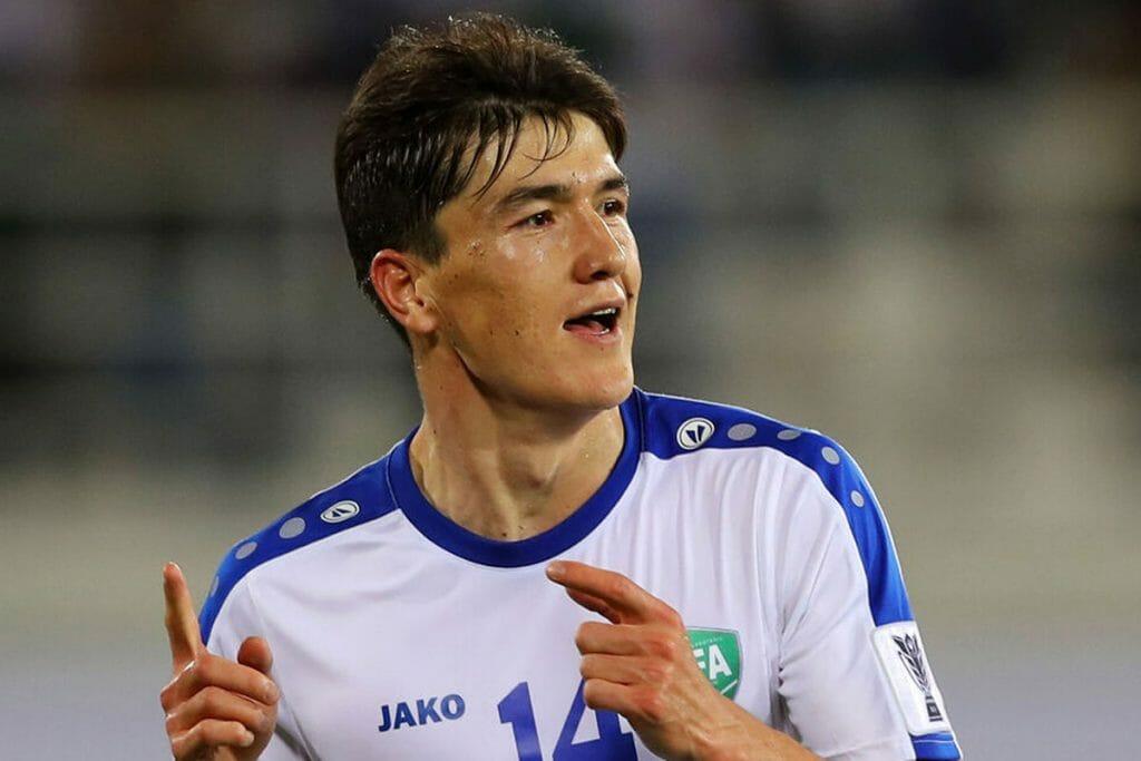 Eldor Shomurodov di tim nasional Uzbekistan