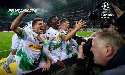 Selebrasi gol Pemain Gladbach
