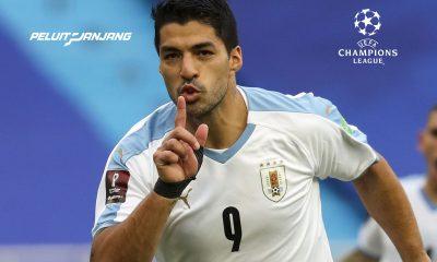 Luis Suarez saat membela Uruguay kemudian positif covid-19