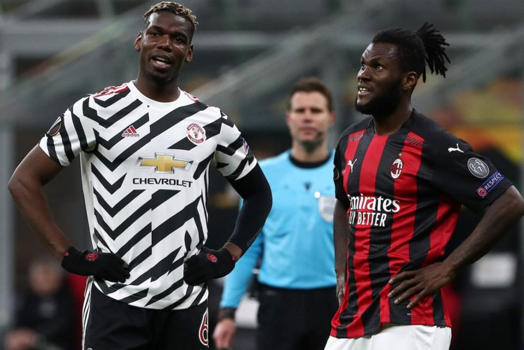 Paul Pogba dan Franck Kessie (Kredit: CalcioMercato.com)