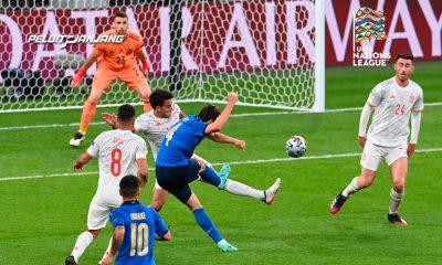Pertemuan Italia dengan Spanyol di UEFA Euro 2020 (Kredit: SportsAdda)