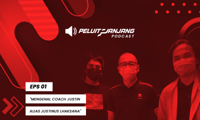 Podcast Peluit Panjang episode 1 featuring Coach Justin (Justinus Lhaksana) cover