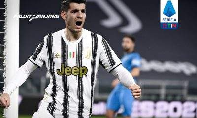 Selebrasi gol Alvaro Morata ke gawang Spezia
