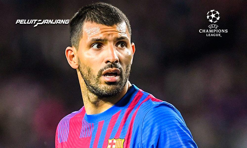 Sergio Aguero bermain di Barcelona, menolak nomor punggung 10 (kredit: Twitter @brfootball)