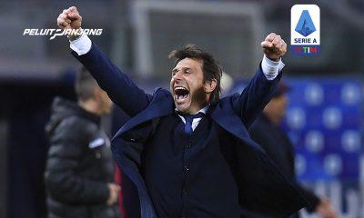 Antonio Conte saat Inter Milan menang 0-1 di markas Bologna
