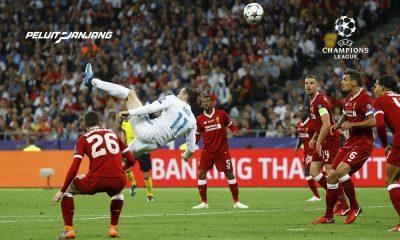 Gol Gareth Bale ketika Real Madrid mengalahkan Liverpool di final