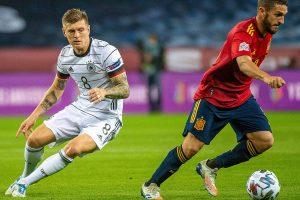 Toni Kroos saat Jerman kalah 6-0 dari Spanyol
