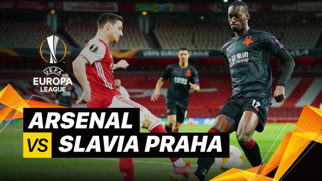 Arsenal 1-1 Slavia Praha Babak 8 Besar 1st Leg